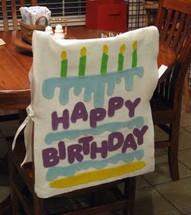 Trono de cumpleaños