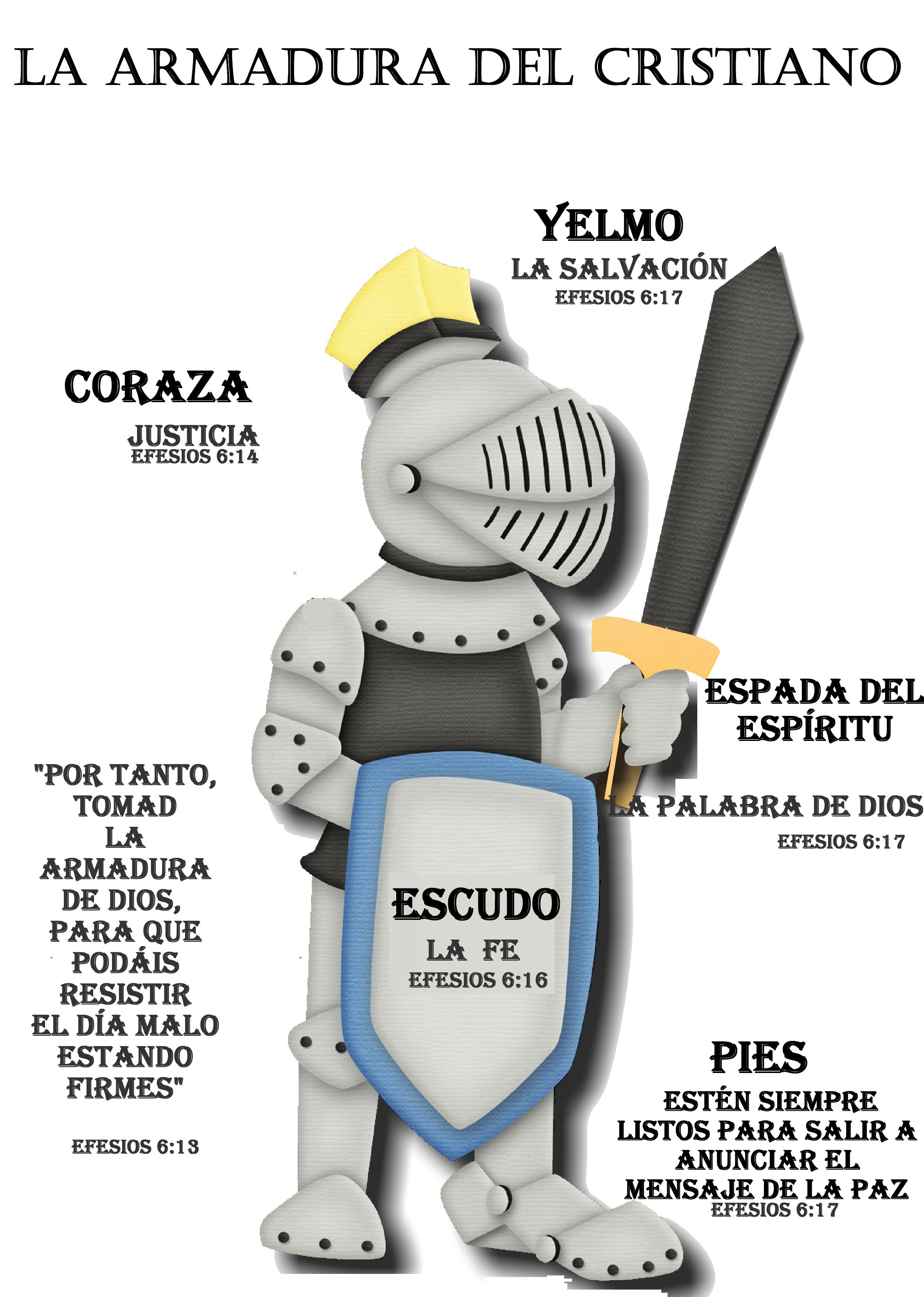La armadura de dios para niños cristianos - Imagui