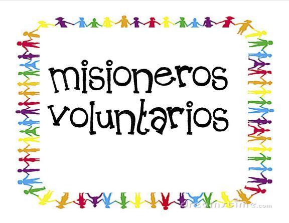 cartel 1 misioneros voluntarios
