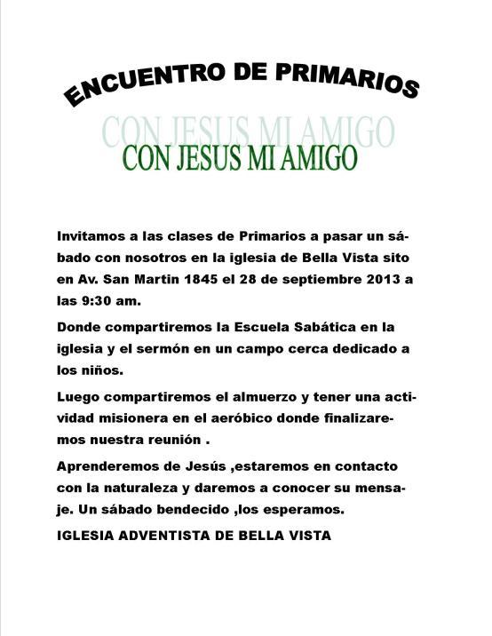 Iglesia Bella Vista invitación